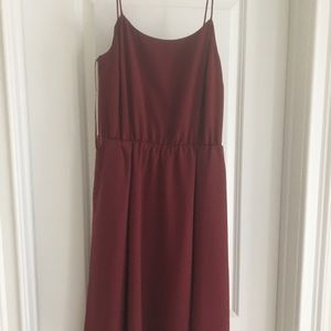 Jcrew Bordeaux dress
